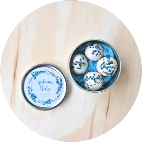 – Welcome, Baby – <br> baby blue eyes seed bombs