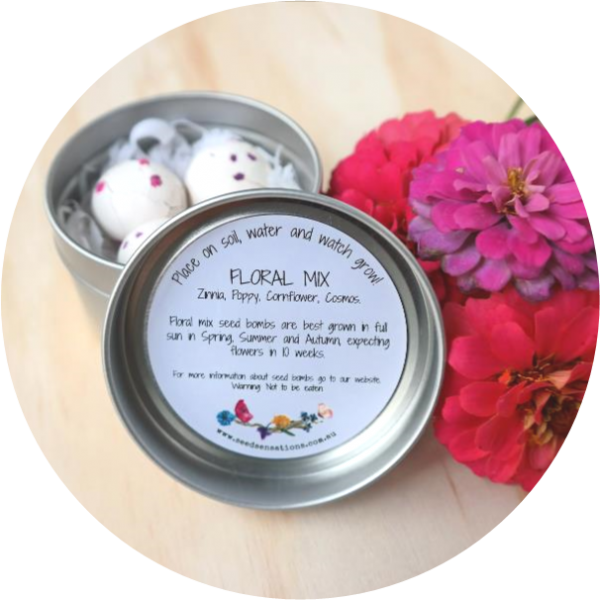 – Happy Birthday –<br> floral mix seed bombs