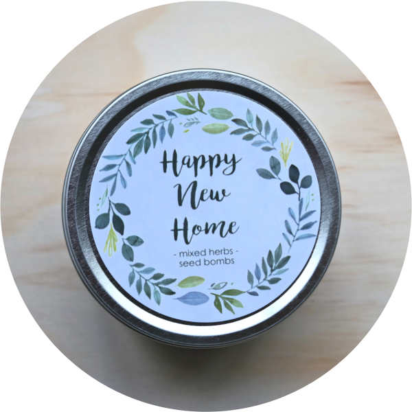 – Happy New Home – <br> herb mix seed bombs