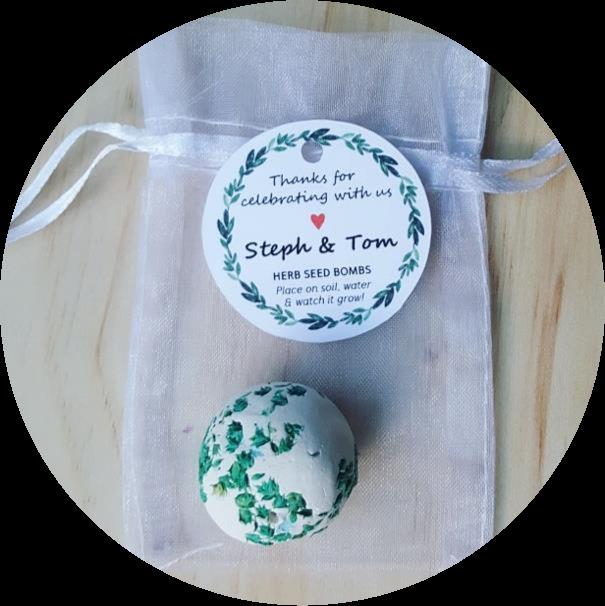 seed bombs wedding favour bomboniere gift idea