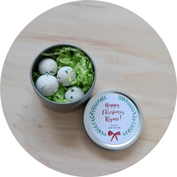 Happy Christmas Thyme! <br> herb seed bombs